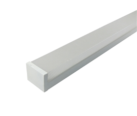 LED prismatic batten light with double tube IP20