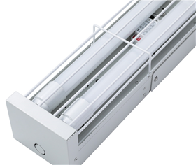 IP20 wire guard LED tube batten light
